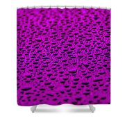 Purple Water Drops On Water-repellent Surface Shower Curtain