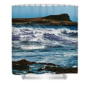 Purple Wave Shower Curtain