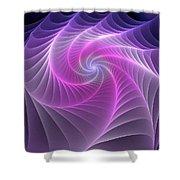 Purple Web Shower Curtain