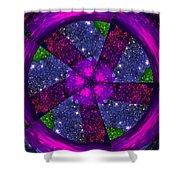 Purple Wheel Vortex Shower Curtain