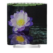 Purple White Yellow Lily Shower Curtain