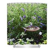 Purple Wild Flowers 1 Shower Curtain