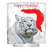 Purrfect Holiday Shower Curtain