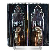 Push And Pull Shower Curtain