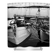Push Boat Shower Curtain