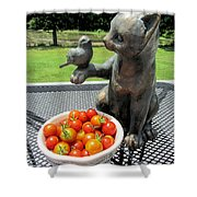 Pussycat And Tomatoes Shower Curtain