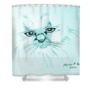 Pussycat Blues Shower Curtain