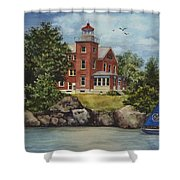 Put-in-bay Lighthouse Shower Curtain