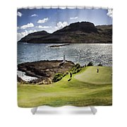 Putting Green In Paradise Shower Curtain