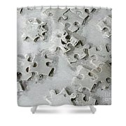 Putting Puzzle Pieces Together Shower Curtain