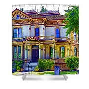 Puyallup Mansion In Washington State Shower Curtain