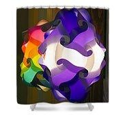 Puzzle Lamp Shower Curtain