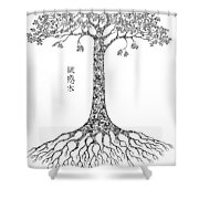 Puzzle Tree Shower Curtain