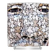Puzzled Man No2 Shower Curtain