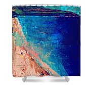 Pv Abstract Shower Curtain