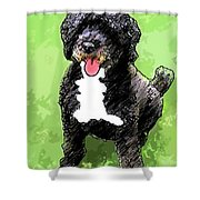 Pw Dog Shower Curtain