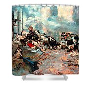 Pyle: Chew House Attack Shower Curtain