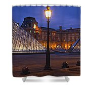 Pyramid At A Museum, Louvre Pyramid Shower Curtain