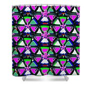 Pyramid Dome Triangle Purple Elegant Digital Graphic Signature   Art  Navinjoshi  Artist Created Ima Shower Curtain
