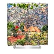 Pyramid Houses In Fall Shower Curtain