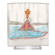 Pyramid Lake - Nevada Shower Curtain