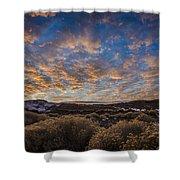 Pyramid Lake Sunset Shower Curtain