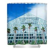 Pyramid, Moody Gardens, Galveston Shower Curtain