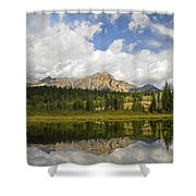 Pyramid Mountain And Cottonwood Slough Shower Curtain