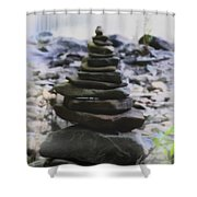Pyramid Of Rocks Shower Curtain