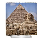 Pyramids And Sphinx In Egypt Shower Curtain