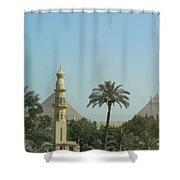Pyramids And The Minaret Shower Curtain