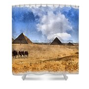 Pyramids Of Giza In Egypt Shower Curtain