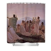 Pythagoreans' Hymn To The Rising Sun Shower Curtain