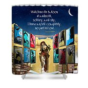 The New Learning Temple With Pythia Shower Curtain