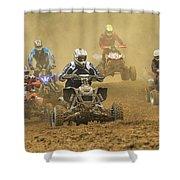Quad Race Shower Curtain