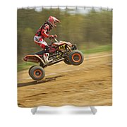 Quad Racer Jumping Shower Curtain