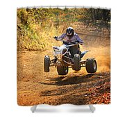 Quad Rider  Shower Curtain