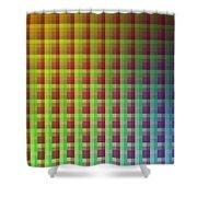 Quadrants Of Color Shower Curtain