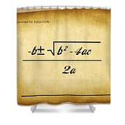 Quadratic Equation - Aged Shower Curtain