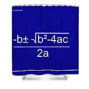 Quadratic Equation Blue-white Shower Curtain