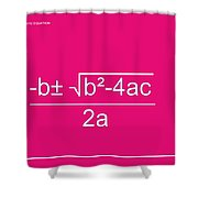 Quadratic Equation Shower Curtain