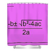 Quadratic Equation Pink-black Shower Curtain