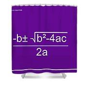 Quadratic Equation Violet-white Shower Curtain