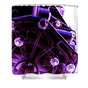 Quadrent Purple Shower Curtain