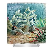 Quail At Rest Shower Curtain