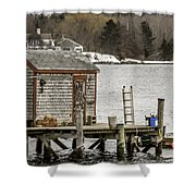 Quaint Fishing Shack New Hampshire Shower Curtain