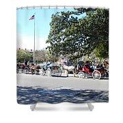Quaint Jackson Square Shower Curtain