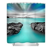Quantum Divide Shower Curtain