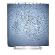 Quantum Nautilus Spotlight Shower Curtain