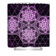 Quantum Snowfall Shower Curtain